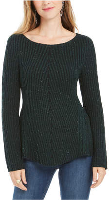 Style&Co. Style & Co Scalloped Hem Ribbed Knit Sweater