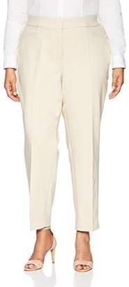 Rafaella Women's Plus Size Lightweight Satin Twill Ankle Pant