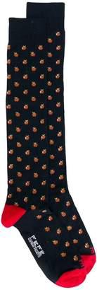 fe-fe apple patterned socks