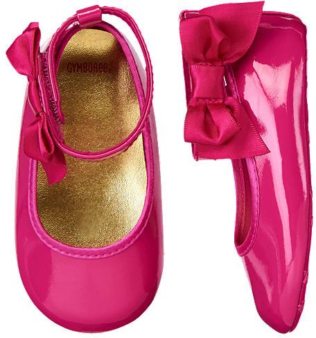 Gymboree Satin Bow Patent Crib Shoe