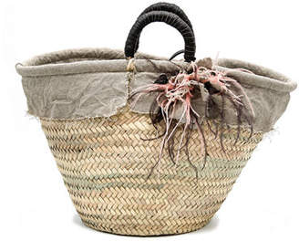 Roberta Gandolfi Belle Medium Straw Romantic Basket Bag