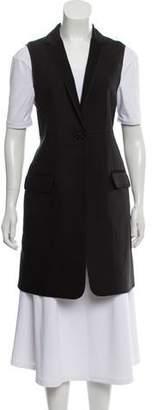 The Row Virgin Wool & Silk-Blend Longline Vest w/ Tags