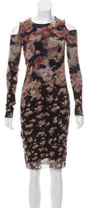 Jean Paul Gaultier Soleil Cold-Shoulder Floral Print Dress