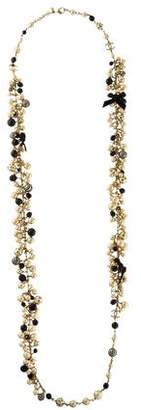 Chanel Faux Pearl & Beaded Necklace