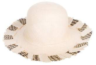 Jennifer Ouellette Woven Straw Hat w/ Tags