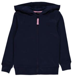 George Navy Zip Up Hoodie