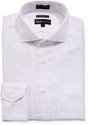 Neiman Marcus Classic-Fit Non-Iron Herringbone Check Dress Shirt