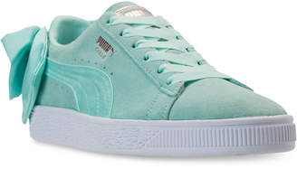 Puma Women Suede Bow Casual Sneakers from Finish Line