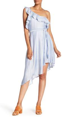 NSR Tia One Shoulder Stripe Dress