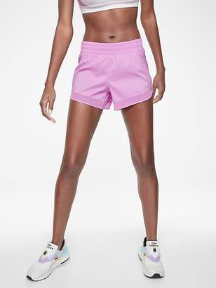 Athleta Mesh Racer Run Short 4""
