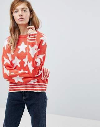 Asos Sweater In Star Pattern