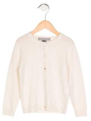 Neiman Marcus Girls' Cashmere Embellished Cardigan