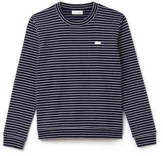 Lacoste Women's Crew Neck Stretch Cotton Interlock Sweatshirt