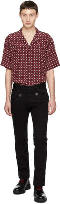 DSQUARED2 Black Bull Cropped Flare Jeans