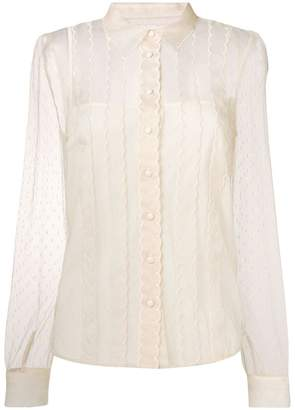 RED Valentino lace long sleeve blouse