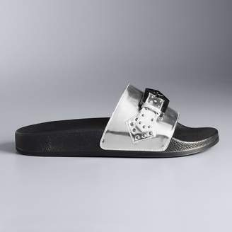 Vera Wang Simply Vera Symbols Women's Slides