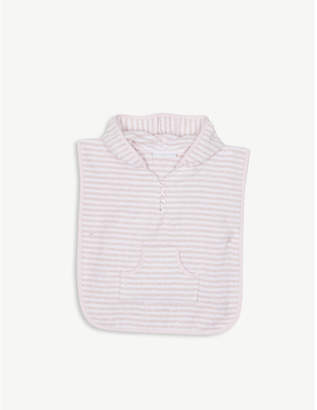 The Little White Company Striped cotton towel poncho 0-24 months