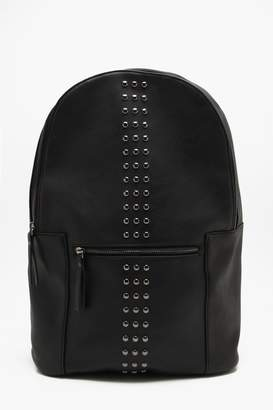 boohoo Faux Leather Studded Rucksack