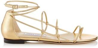 Jimmy Choo Sphynx Metallic Sandals