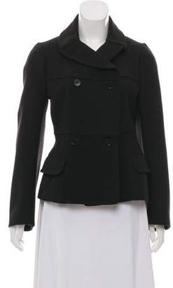 JPLUS Double-Breasted Short Wool Coat