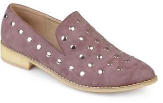 Brinley Co. Women's Nubuck Stud Pointed Toe Flats