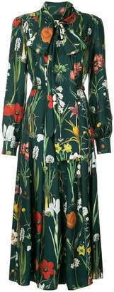 Oscar de la Renta long sleeved shirt dress