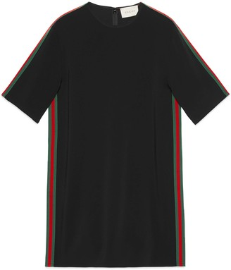 Gucci Stretch viscose tunic dress with Web