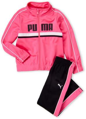 Puma Girls 4-6x) Two-Piece Logo Track Jacket & Pants Set