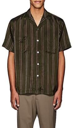 Second / Layer Men's Striped Oversized Short-Sleeve Shirt