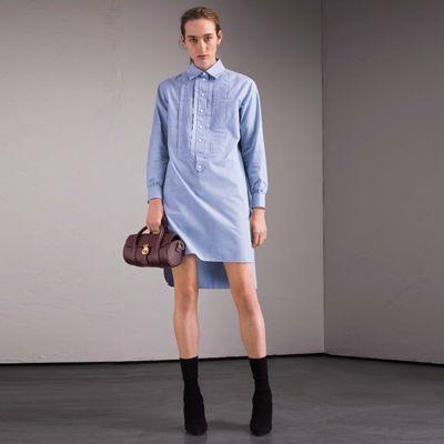 Burberry Burberry Cotton Chambray Tunic Shirt Dress