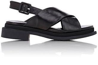 Robert Clergerie Women's Calientek Crisscross-Strap Sandals-BLACK $550 thestylecure.com