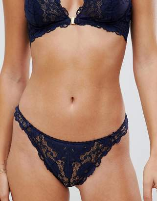 Heidi Klum Intimates lace hipster knickers in navy