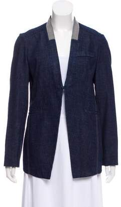 Brunello Cucinelli Denim Monili-Trimmed Blazer