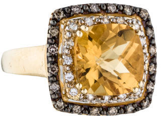 Le Vian 14K Citrine and Diamond Cocktail Ring $645 thestylecure.com