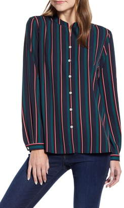 Tommy Hilfiger Ava Stripe Long Sleeve Blouse