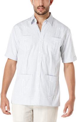 Cubavera Cotton Short Sleeve Dobby Check Guayabera