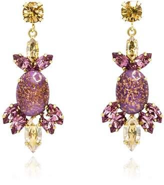 Rosaspina Firenze - Rosaspina Firenze Purple Opera Chandelier Earrings
