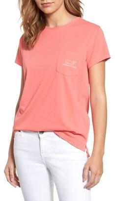 Women's Vineyard Vines Logo Short Sleeve Pocket Tee $45 thestylecure.com