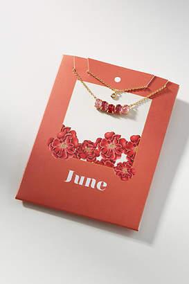 Anthropologie Birthstone Layered Necklace Set