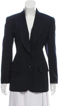 Christian Dior Wool Scallop-Lapel Blazer