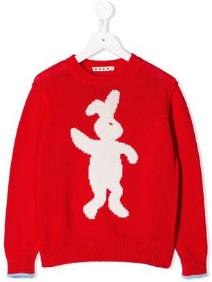 Marni rabbit embroidered sweater