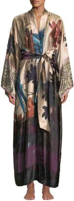 Christine Lingerie Phoenix Floral Long Silk Robe
