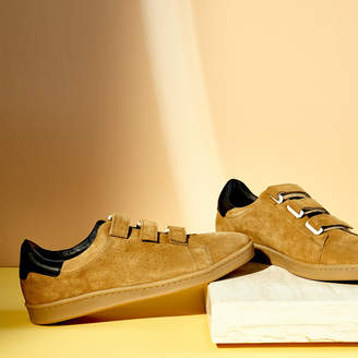 Sandro Suede Velcro Sneakers