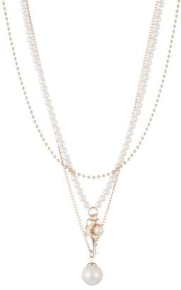 """Ralph Lauren Layered Simulated Pearl Necklace, 18"""""""