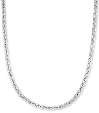 """Legacy for Men by Simone I. Smith Smooth Box Link 24"""" (7 mm thick) Chain Necklace in Stainless Steel"""