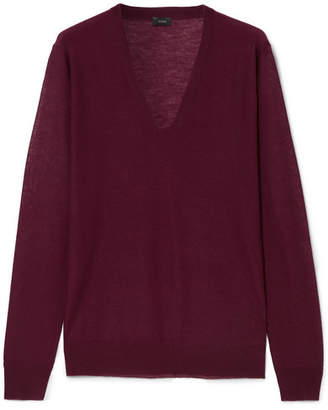 Joseph Cashmere Sweater - Merlot