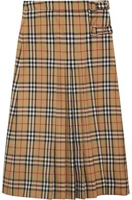 Burberry Vintage Check Wool Kilt