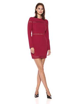 LIKELY Women's Solace Long Sleeve Eyelet Dress