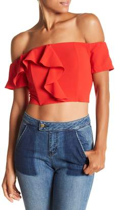 Do & Be Do + Be Ruffle Off-the-Shoulder Cropped Blouse