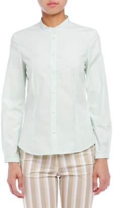 Cacharel (キャシャレル) - cacharel ウエストダーツ バンドカラー 長袖シャツ ジェイド 38